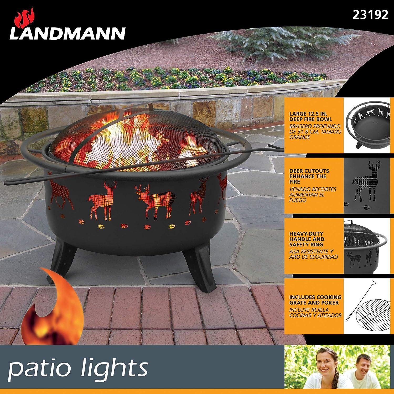 Landmann Usa 23192 Patio Lights Deer Tracks Fire Pit Black Ceiling Lights Lamps Light Fixtures