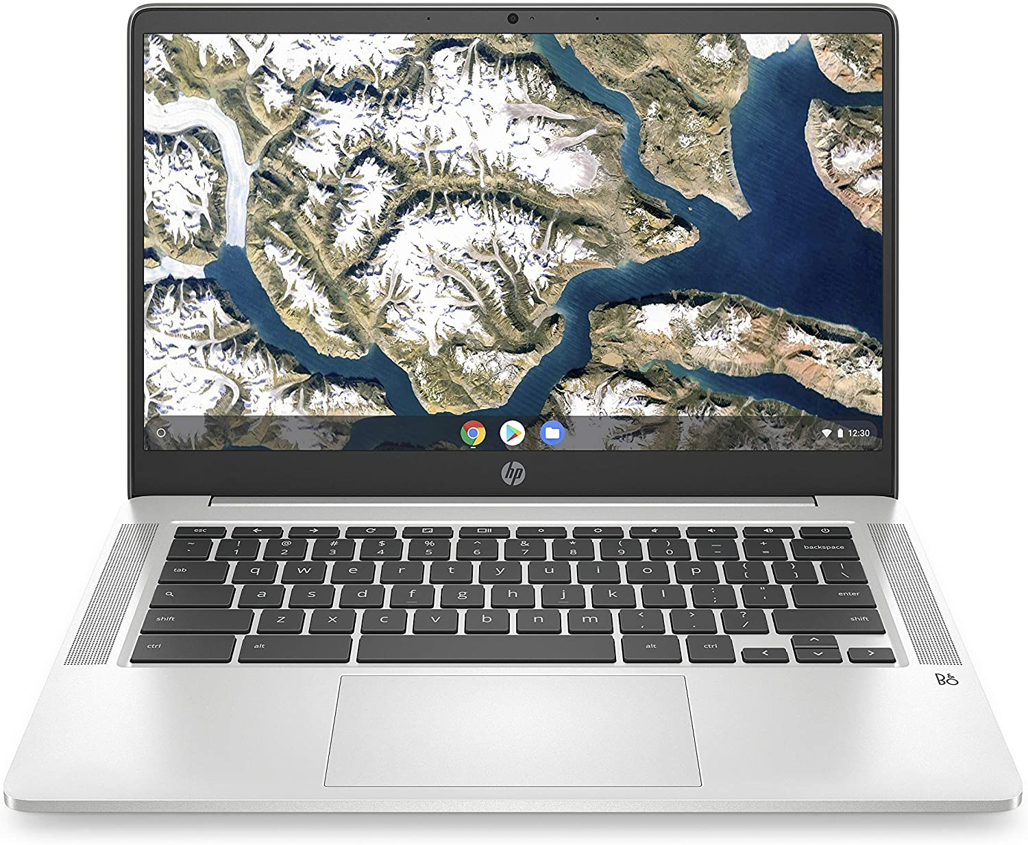 HP Chromebook 14-inch FHD Laptop, Intel Celeron N4000, 4 GB RAM, 32 GB eMMC, Chrome (14a-na0050nr, Mineral Silver)