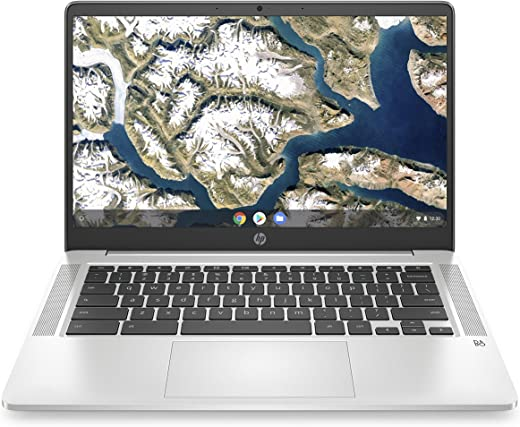 HP Chromebook 14-inch HD Laptop, Intel Celeron N4000, 4 GB RAM, 32 GB eMMC, Chrome (14a-na0010nr, Mineral Silver)
