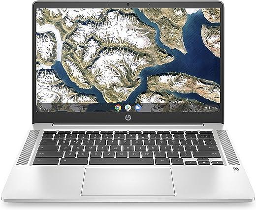 "HP - PC Chromebook 14a-na0003nl, Intel Celeron N4000, RAM 4 GB, eMMC 64 GB, Sistema Operativo Chrome OS, Google Play Store, Schermo FHD 14"", Audio Bang&Olufsen, USB-C, Webcam, Argento [CB]"
