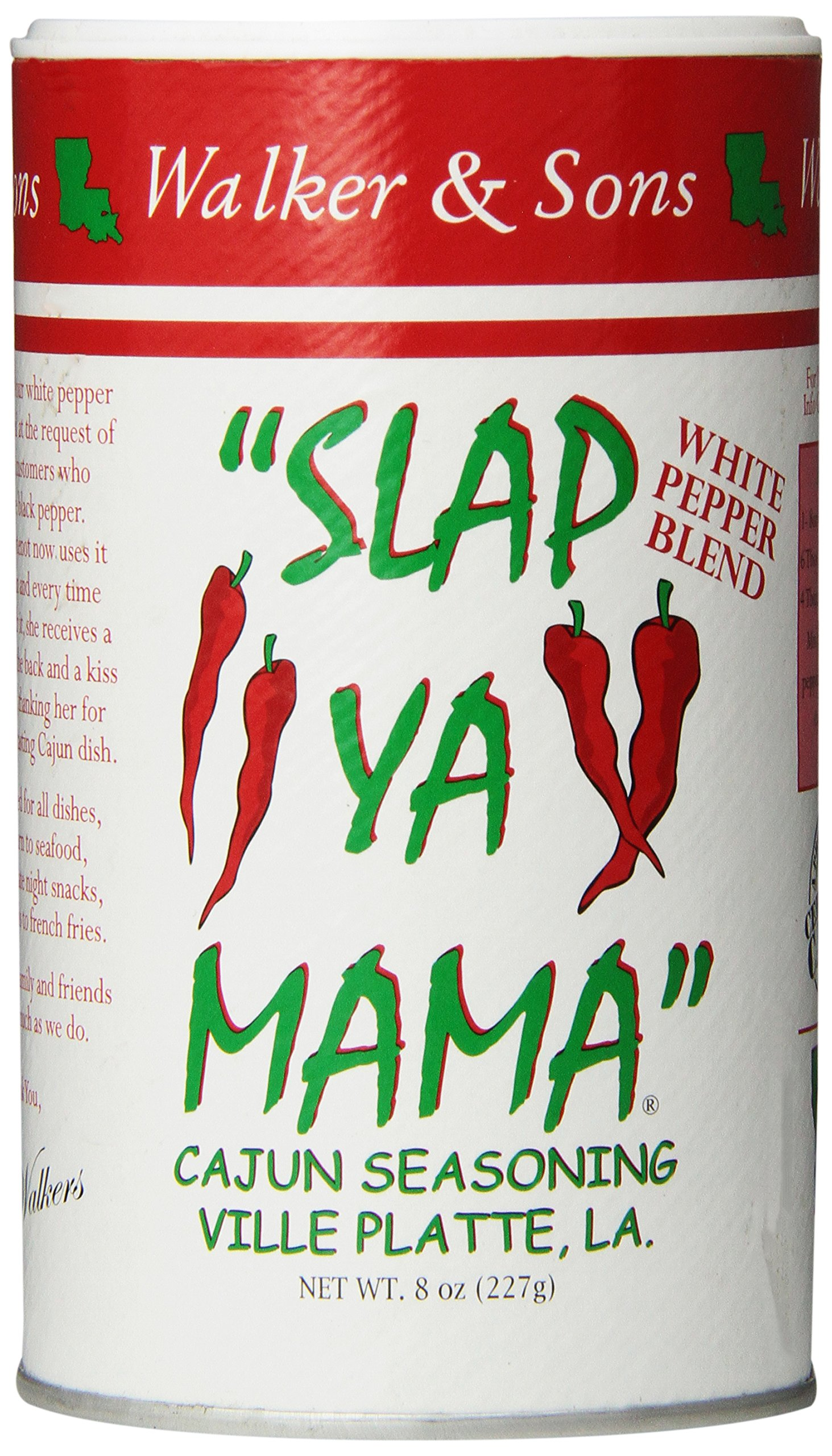 One 8 oz Slap Ya Mama Cajun Seasoning White Pepper Blend