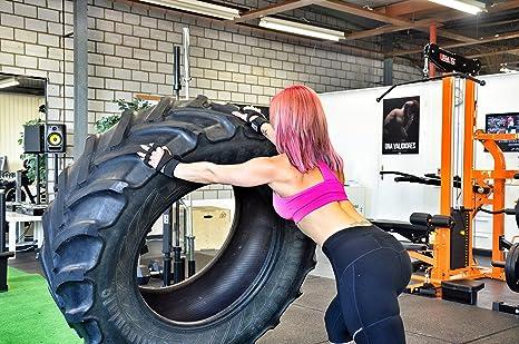 Guantes de entrenamiento con muñequera para entrenamiento, Crossfit, levantamiento de pesas, dominadas, gimnasio, levantamiento de potencia.