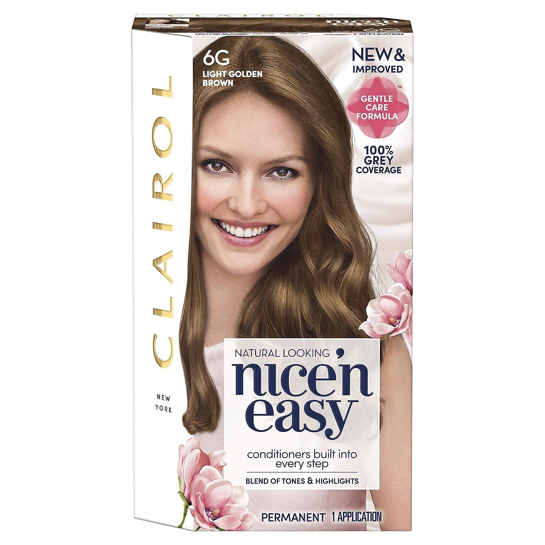 Clairol Nice N Easy Permanent Hair Dye 6a Light Ash Brown Coty 81649351