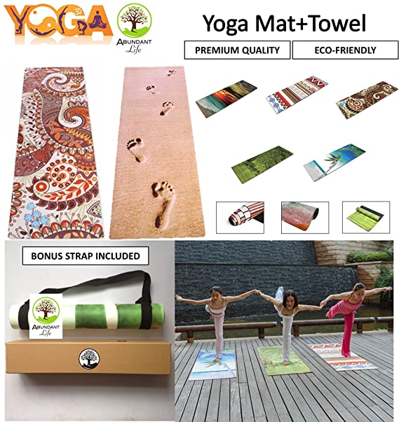 Amazon.com: PREMIUM – Alfombrilla de yoga con integrado ...