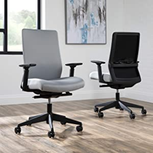 HON BASYX Biometryx Commercial-Grade Fabric Upholstered Task Chair, Office Chair, in Grey