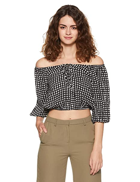 d0223bb4663f2 Forever 21 Women s Off-The-Shoulder Lace-Up Top 116165