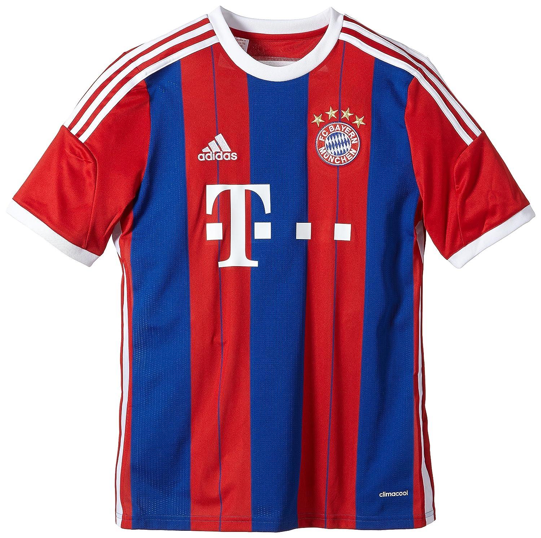 69e6744e93e adidas Men FC Bayern München Home Replica Player Jersey  Amazon.co.uk   Sports   Outdoors