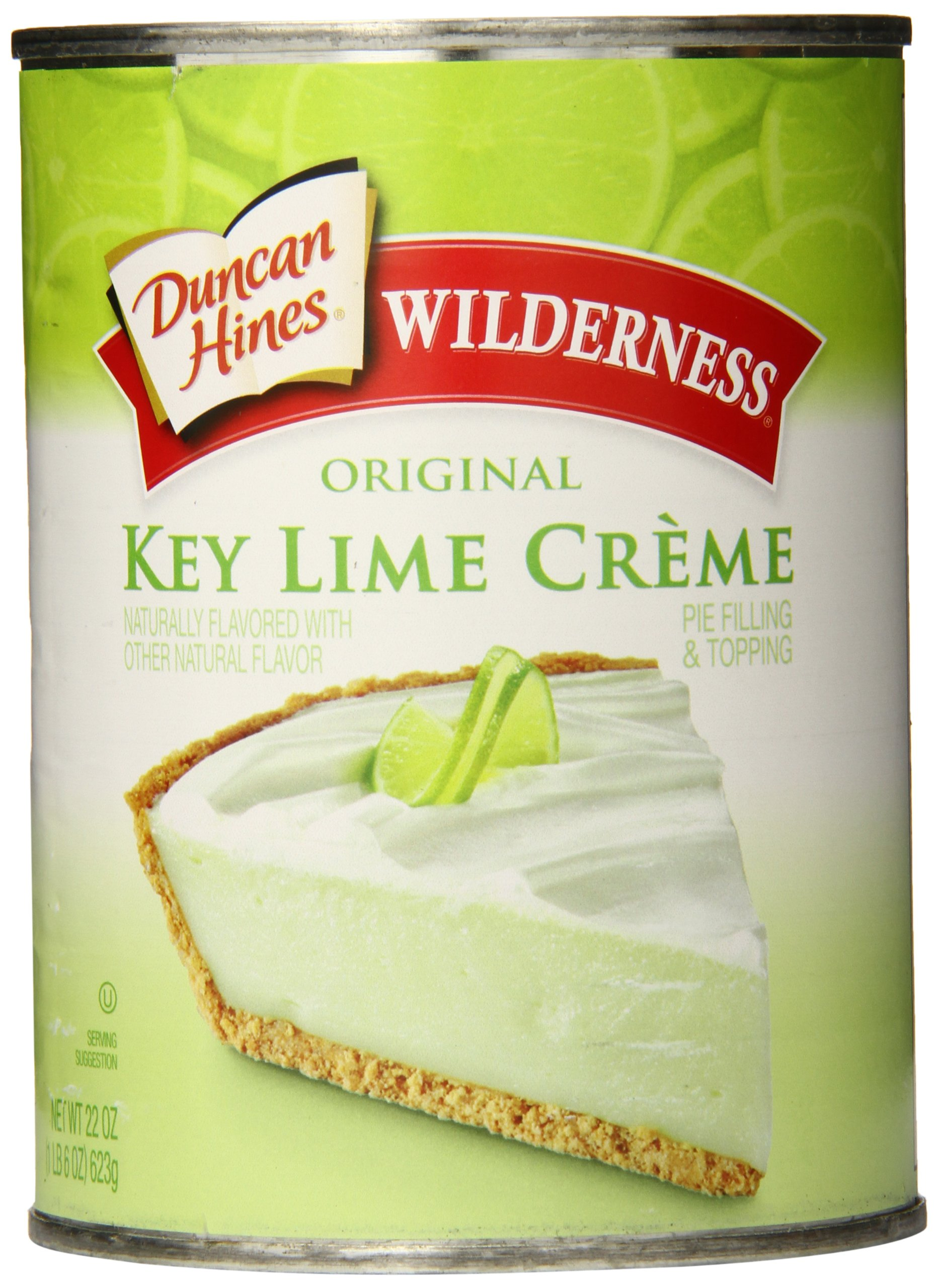 Wilderness Original Pie Filling & Topping, Key Lime Creme, 22 Ounce (Pack of 8)