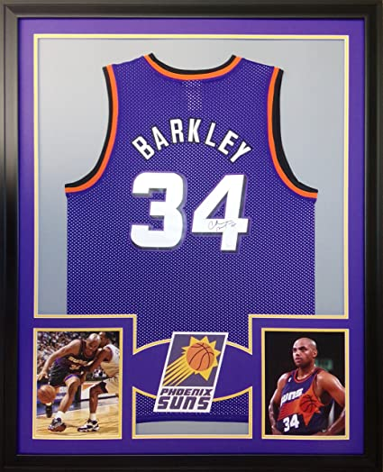 the best attitude 5618e 9cefa Charles Barkley Phoenix Suns Autograph Framed Custom Framed ...