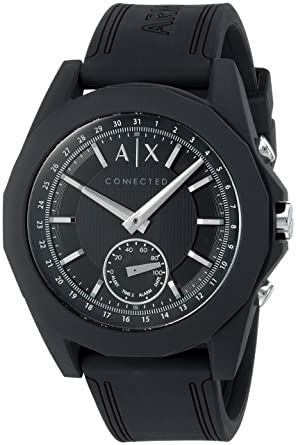 13a9ac15a Image Unavailable. Image not available for. Color: Armani Exchange Men's  Hybrid Smartwatch ...