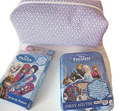 Los niños de Frozen carácter infectiguard + varios tiritas estériles, pegatinas, tira de termómetro