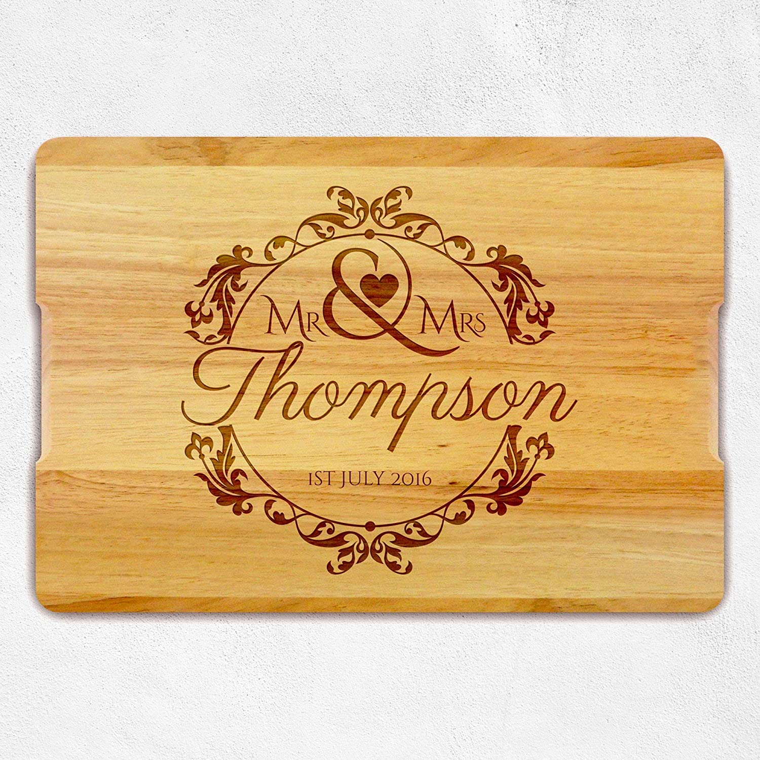 Personalized Cutting Board, Christmas Gift, Housewarming Gift, Wedding Gift, Gift for Couple, New House Gift, Wooden Cutting Board, Chopping Board