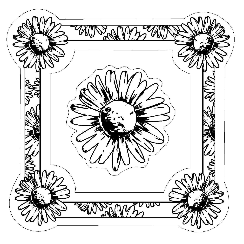 Inkadinkado Daisy Frame Cling Stamp