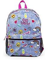 "Emoji Denim Blue Sticker 16"" Inch Backpack School Bag"