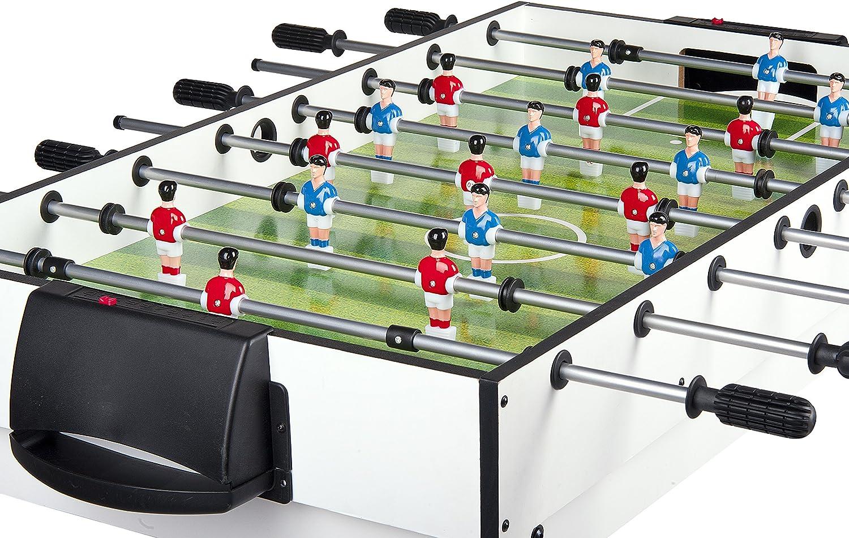 LEOMARK Mesa Multijuegos Futbolin Mesa Billar 4 En 1 (Billar ...