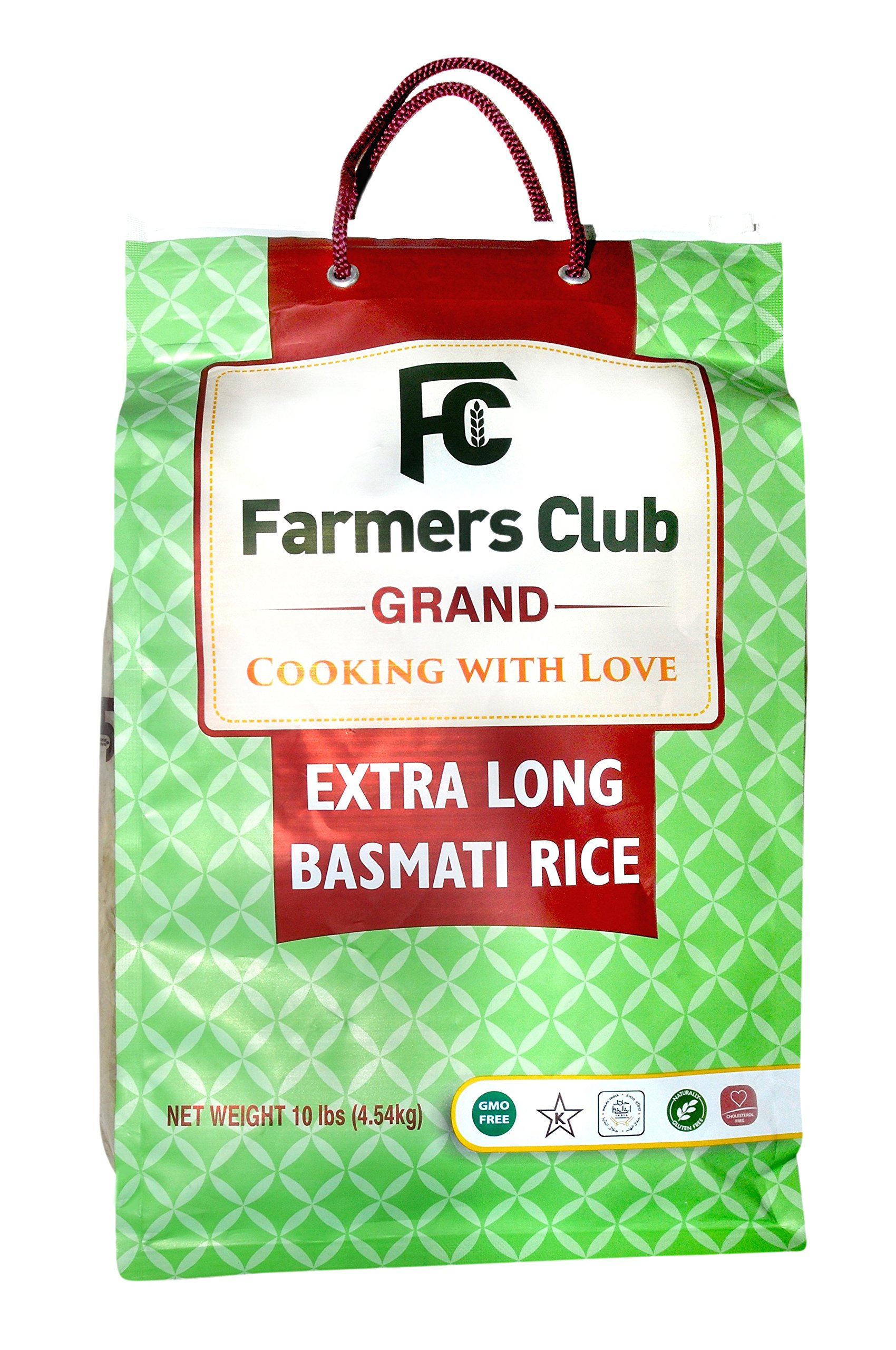 Farmer's Club Basmati Rice 10 Pound Bag (Premium, Extra Long)