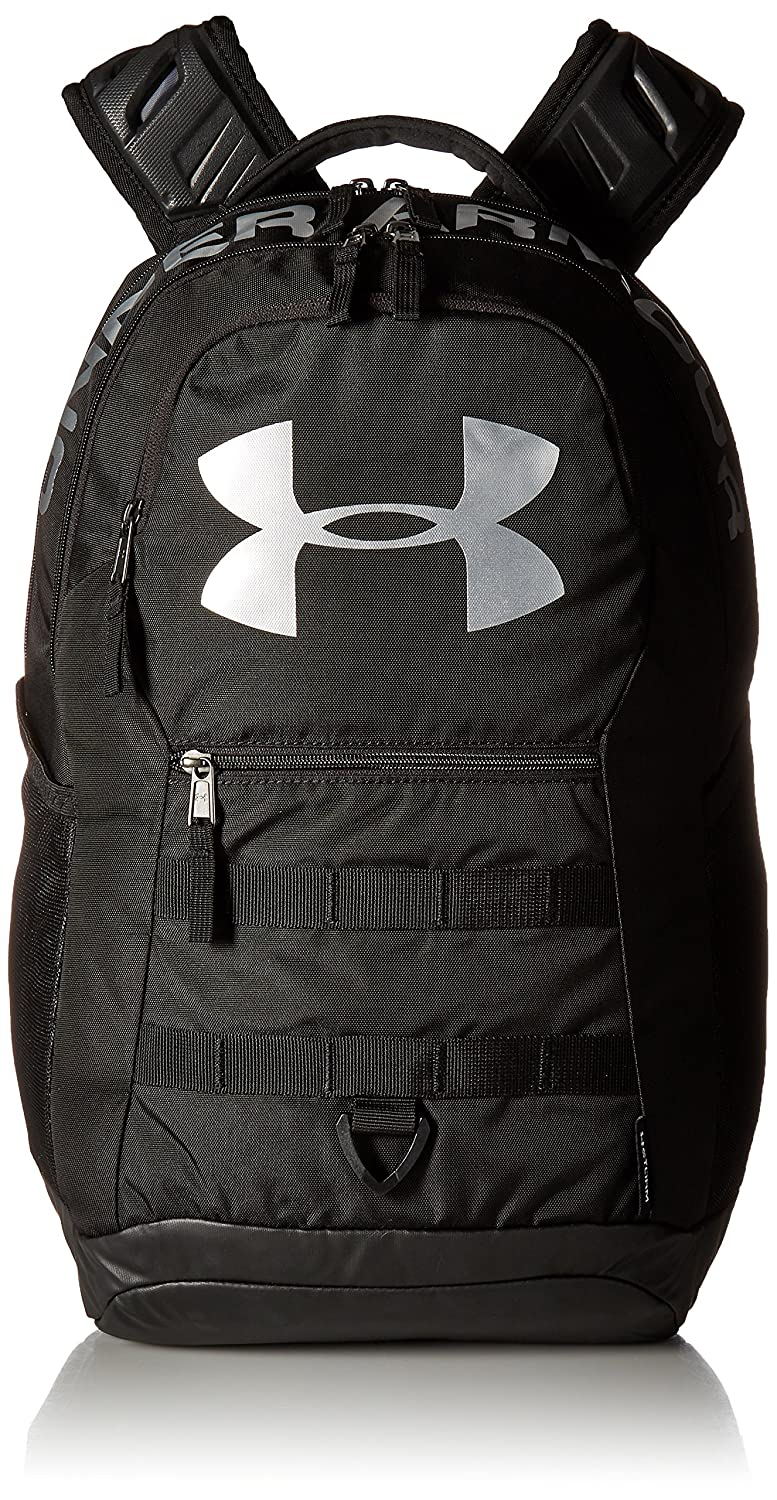 ad2684ecca Amazon.com: Under Armour Big Logo 5.0 Backpack, Black (001)/Silver, One  Size: Clothing