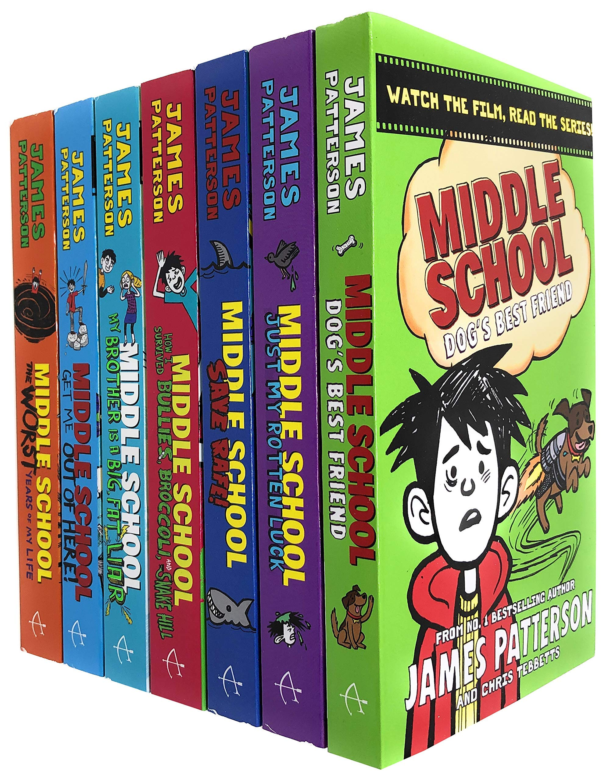 Amazon Com Middle School 7 Books Collection Set By James Patterson Dogs Best Friend Just My Rotten Luck Save Rafe My Brother Is A Big Fat Liar More 9789124022945 James Patterson Middle