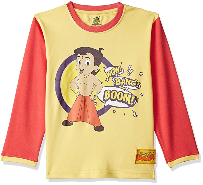 e807d4559 Chhota Bheem Boys' T-Shirt (GGAPP-CB494A_Cyber Yellow_2-3 ...