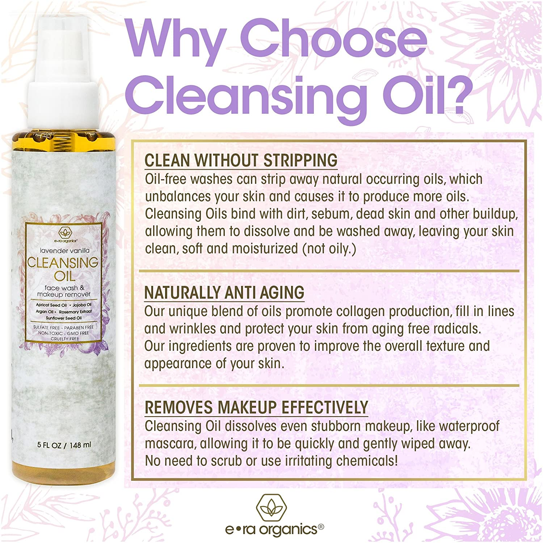 Natural Facial Cleansing Oil and Makeup Remover for Sensitive Skin – Era Organics