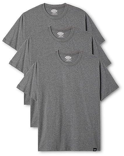 1d2df5b6a Dickies Men's Pack T-Shirt, (Dark Grey Melange), XXXX-Large (Size ...