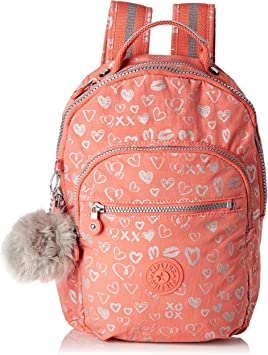 Kipling Seoul GO S Mochila Infantil, 35 cm, 14 Liters, Multicolor (Hearty Pink Met): Amazon.es: Equipaje