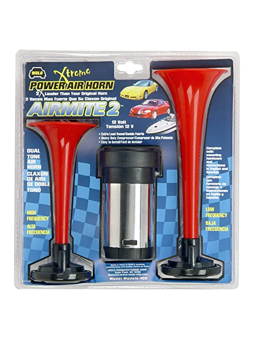 Amazon.com: Wolo 400-24 Airmite 2 Power Air Horn (24 Volt, Low and High Tone): Automotive