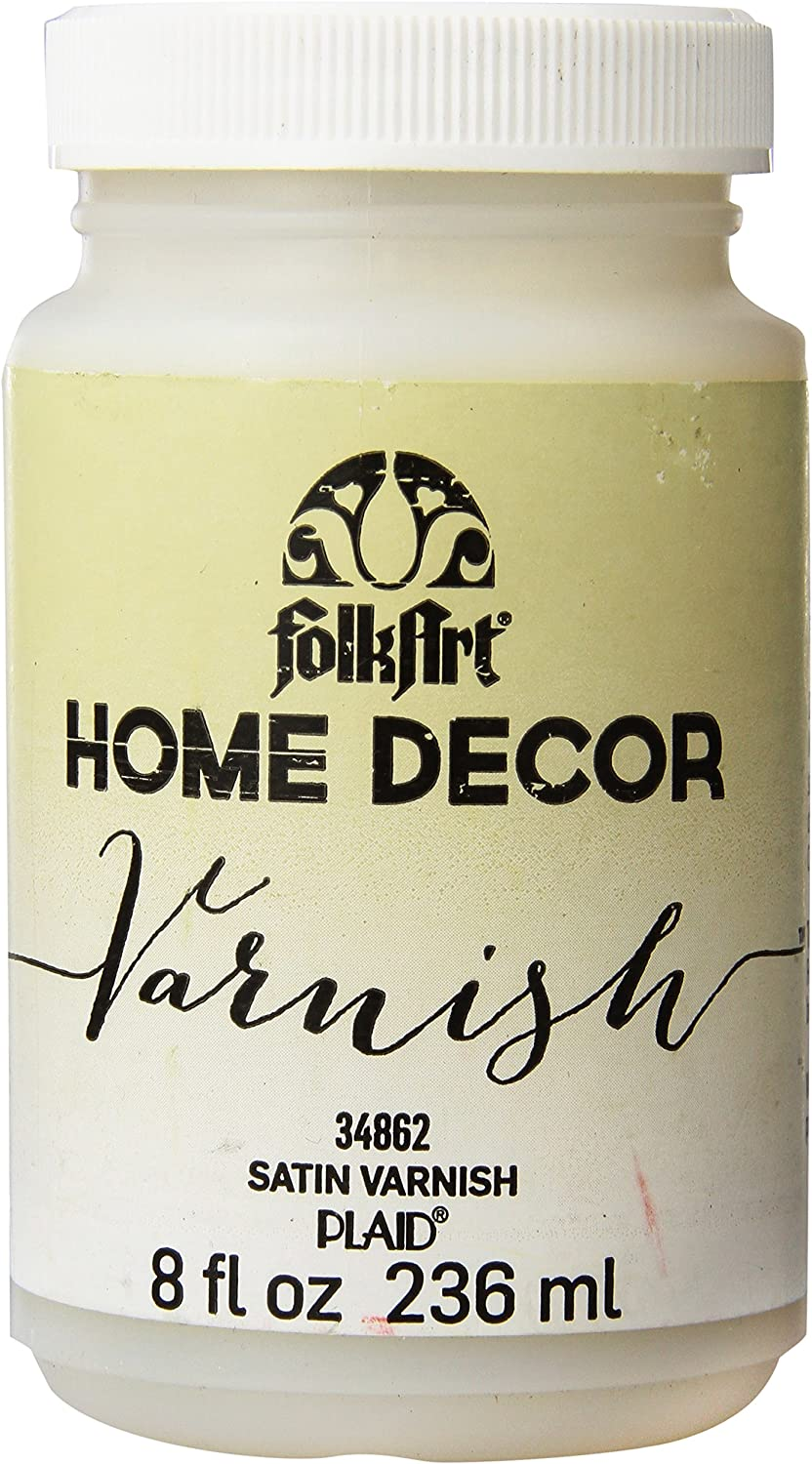 FolkArt Home Decor Chalk Furniture & Craft Paint in Assorted Colors, 8 ounce, Satin Varnish