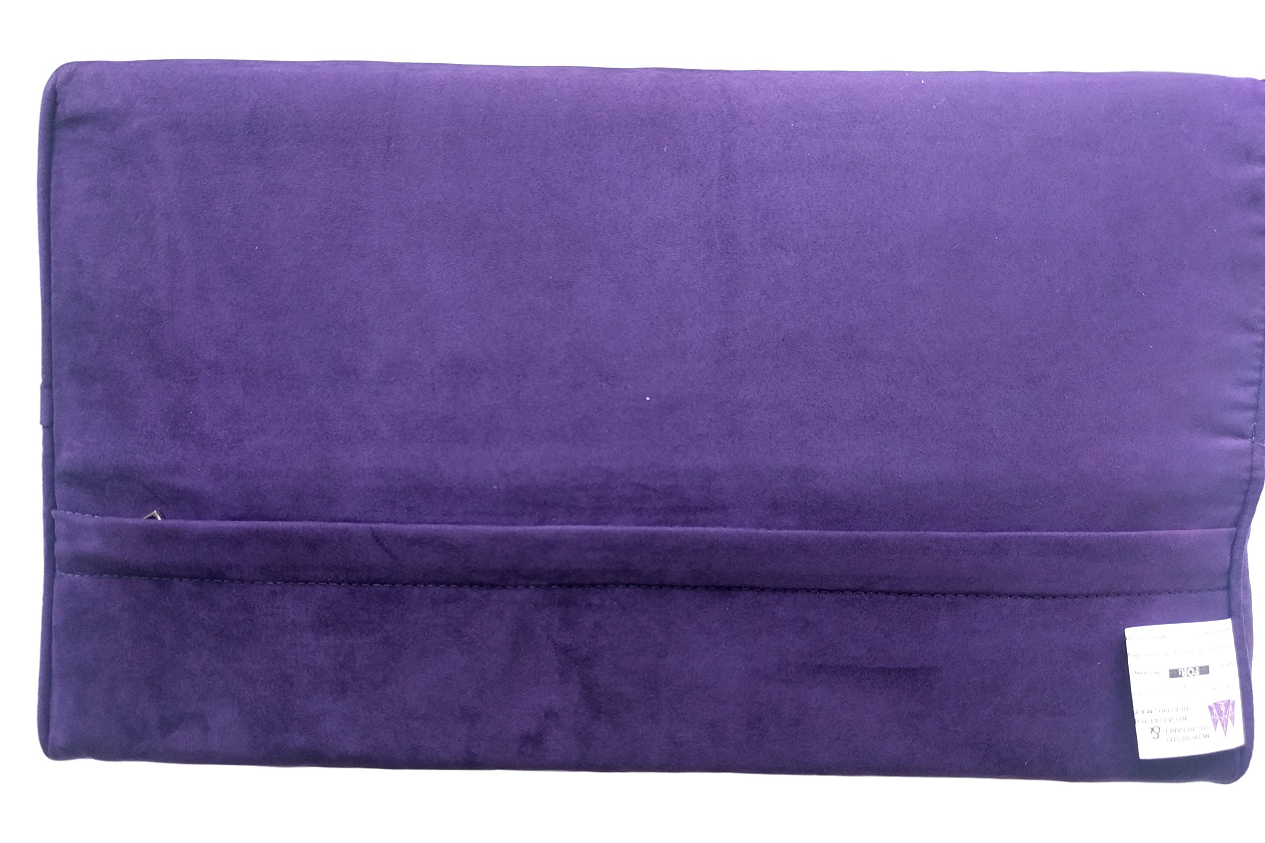 Far Infrared Amethyst Mat Pillow - Emits Negative Ions - Crystal FIR Rays - 100% Natural Amethyst Gemstones - Non Electric - For Headache and Stress Relief - To Sleep Better - GENTLE support - Purple by MediCrystal (Image #8)