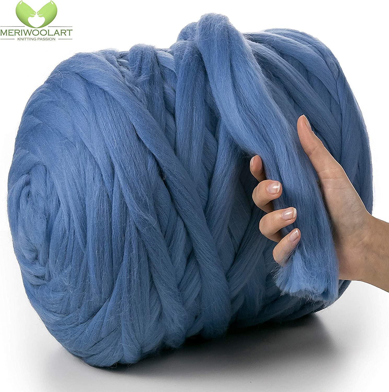 Strickwolle 1300g 1,3 kg 100/% Baumwolle-Viskose Handstrick Wolle Häkelwolle Garn