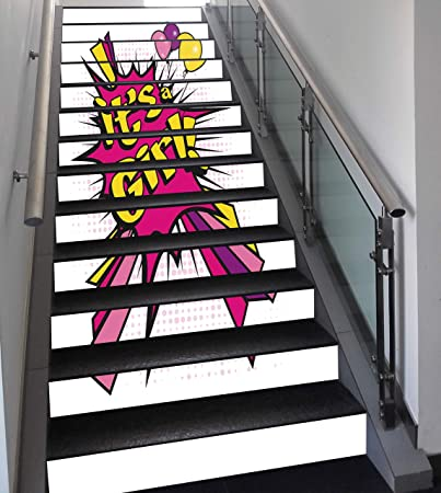 Girl strip stairs