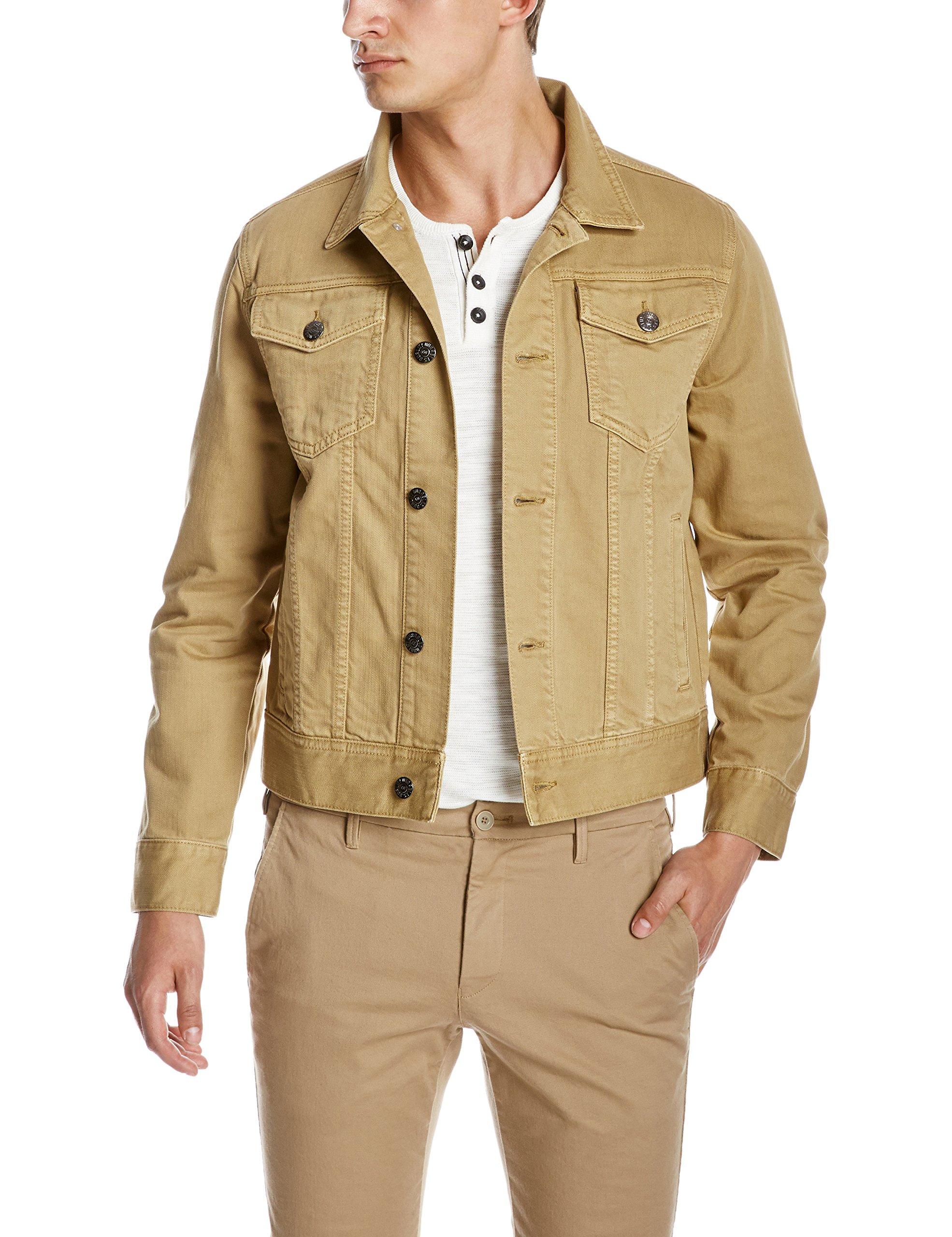 Quality Durables Co. Men's Regular-Fit Jean Jacket S Khaki by Quality Durables Co.