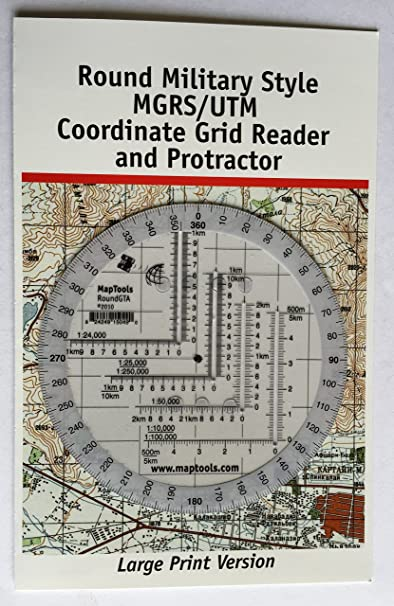 Amazon Com Round Military Coordinate Scale And Protractor Sports Outdoors