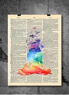 Amazon.com: THE SEVEN CHAKRAS Premium Yoga Poster / Yoga Art ...