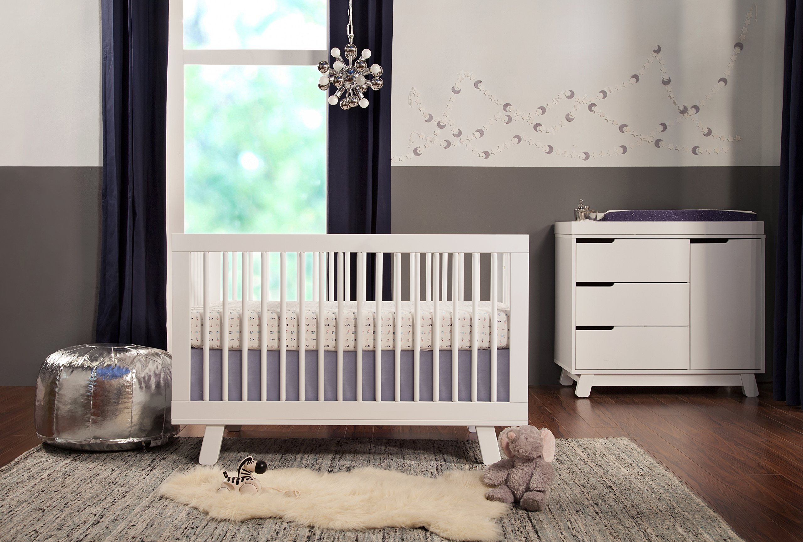 Babyletto Hudson 3-in-1 Convertible Crib with Toddler Bed Conversion Kit, White by babyletto (Image #5)