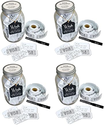 Buy Top Shelf 50th Birthday Wish Jar Unique And Thoughtful Gift Ideas For Friends And Family Memorable Gift For Mom Dad Grandma And Grandpa 4 Pack Online At Low Prices