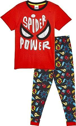 Marvel Spiderman Pijama Niño Invierno, Pijamas Niños con ...