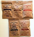 Three Jerks Jerky Ultimate Sampler (Try All 5 Flavors) Original, BBQ, Chipotle, Hamburger, Maple Bourbon
