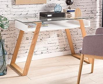 SalesFever® Schreibtisch Venla Skandinavisches Design, Bürotisch mit ...