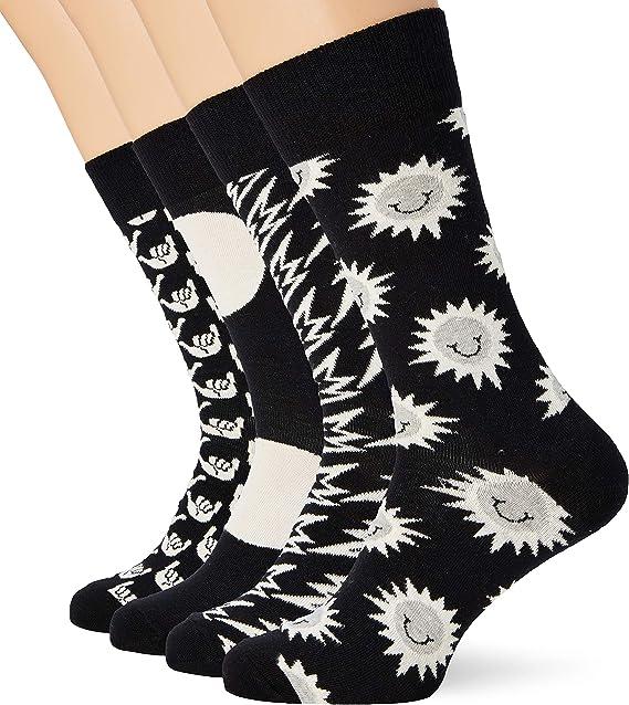 Happy Socks Black And White Gift Box Calcetines, Multicolor (Multicolour 920), 7/10 (Talla del fabricante: 41-46) (Pack de 4) para Hombre: Amazon.es: Ropa y accesorios