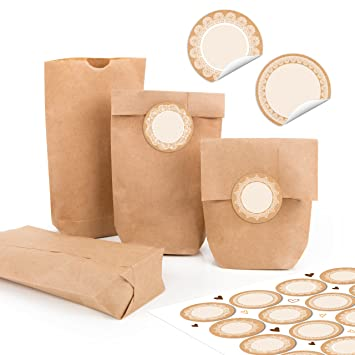 96 pequeñas bolsas marrones Natural Papel Kraft papel 9 x 15 ...