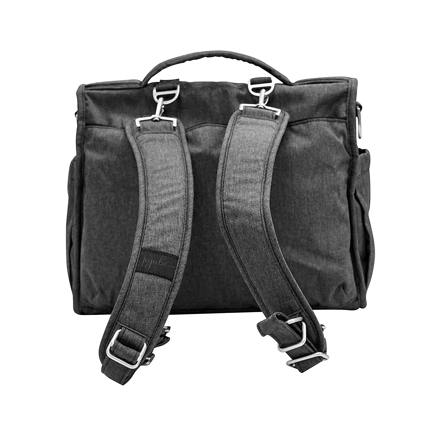 cba5ccf44eac JuJuBe BFF Multi-Functional Convertible Diaper Backpack/Messenger Bag, Onyx  Collection - Chrome