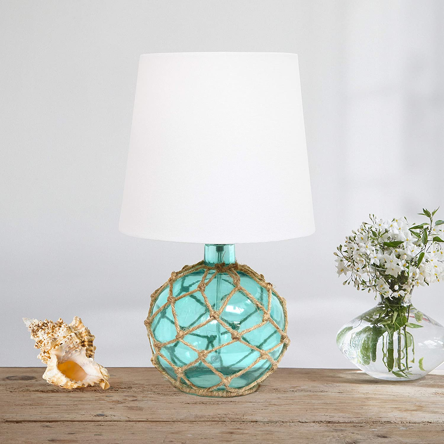 Elegant Designs LT1050-AQU Nautical Table Lamp, Aqua