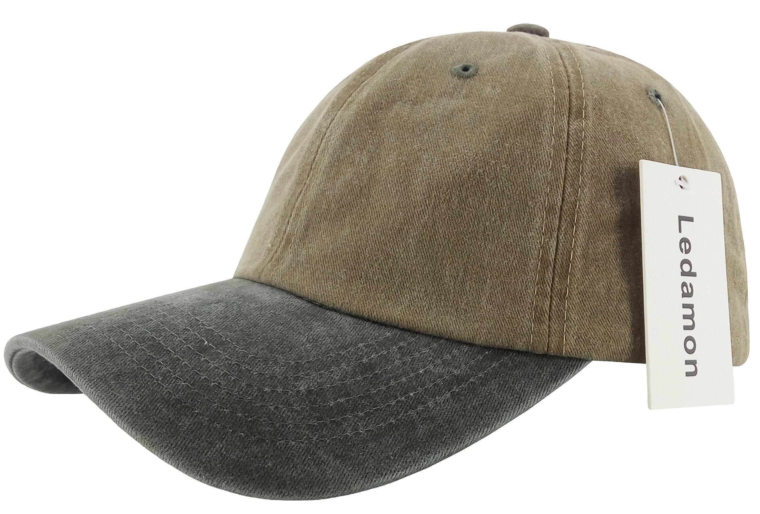 cca10a1c9 Galleon - Ledamon Baseball Cap Vintage Dad Hat Plain Polo Washed ...
