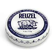 Reuzel - Clay Matte Pomade - Touchable Medium Hold - No Shine - Water Soluble - Volume Texture and Height - Sweat Proof…