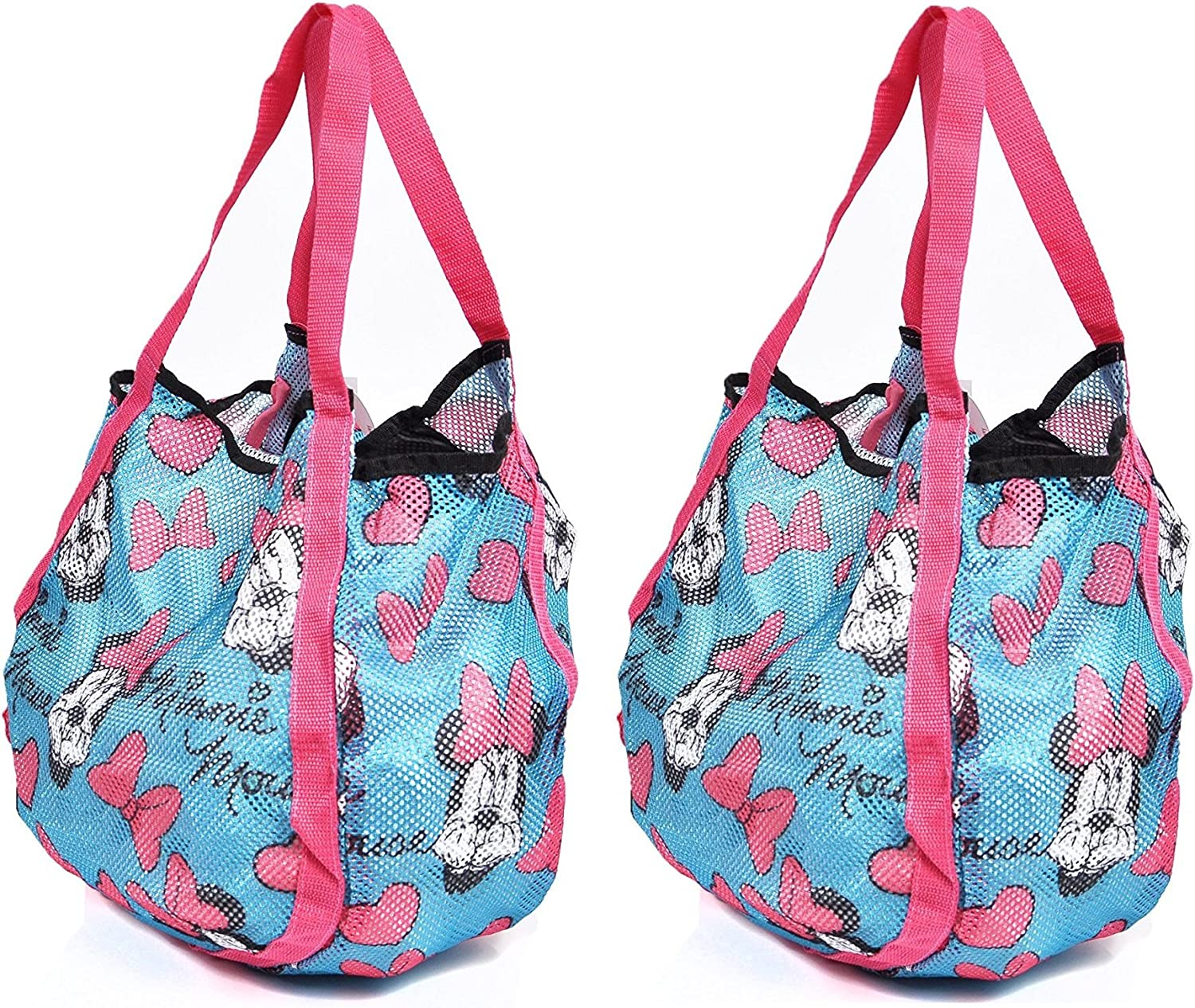Disney Mickey and Minnie Mouse Mesh Hobo Beach Totes 2 Pack both Blue