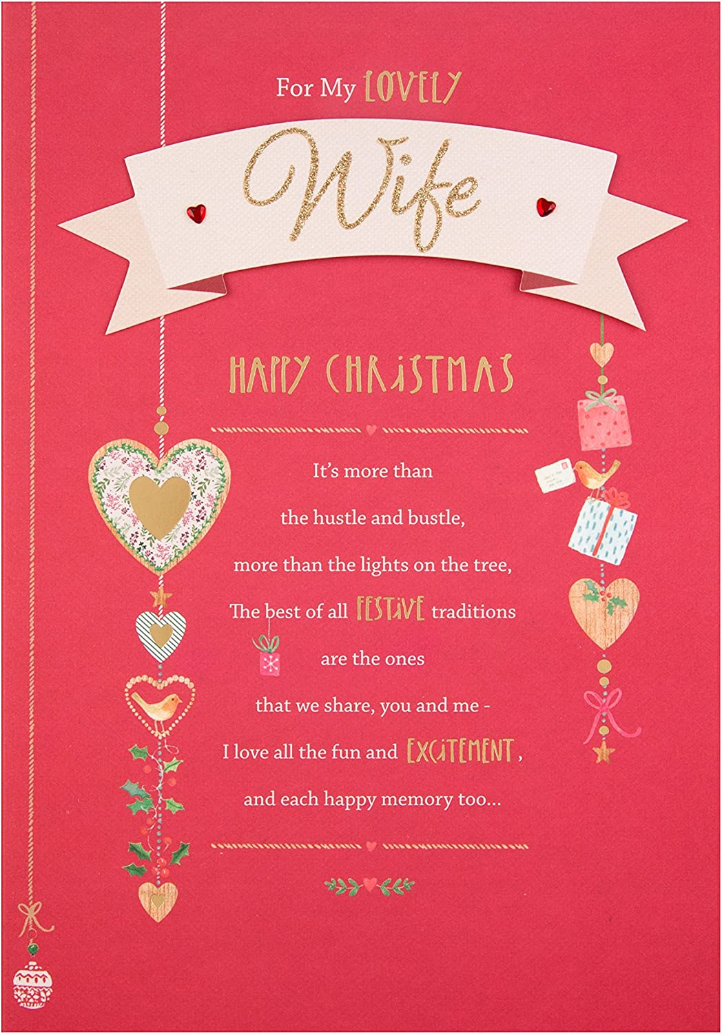 Love You Lots With All My Heart Hallmark Christmas Card Wife