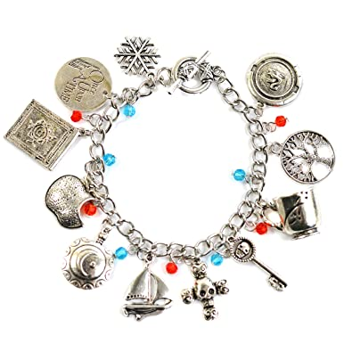 Once Upon A Time Inspired Charm Bracelet - Emma Swan Talisman Antique Silver Charms VqBsn