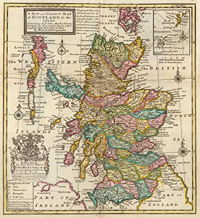 Amazon world atlas 1736 new and correct map of scotland world atlas 1736 new and correct map of scotland the isles historic gumiabroncs Image collections