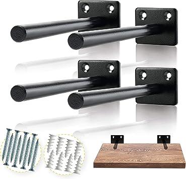 ManLee 4pcs Tablartr/äger Unsichtbar Schwebende Regal Halterungen Regaltr/äger 40 x 75mm Regalhalterung mit Schrauben f/ür M/öbel Schrank Zuhause